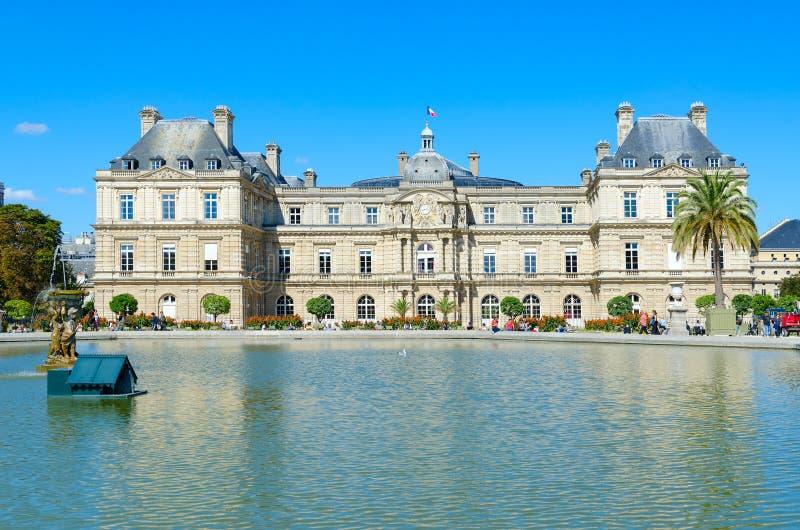 Schöne Ansicht von Luxemburg-Palast Palais DU Luxemburg, Paris, Frankreich lizenzfreie stockfotografie