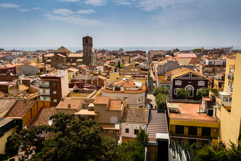 Schöne Ansicht von Malgrat De Mrz, Spanien lizenzfreie stockbilder