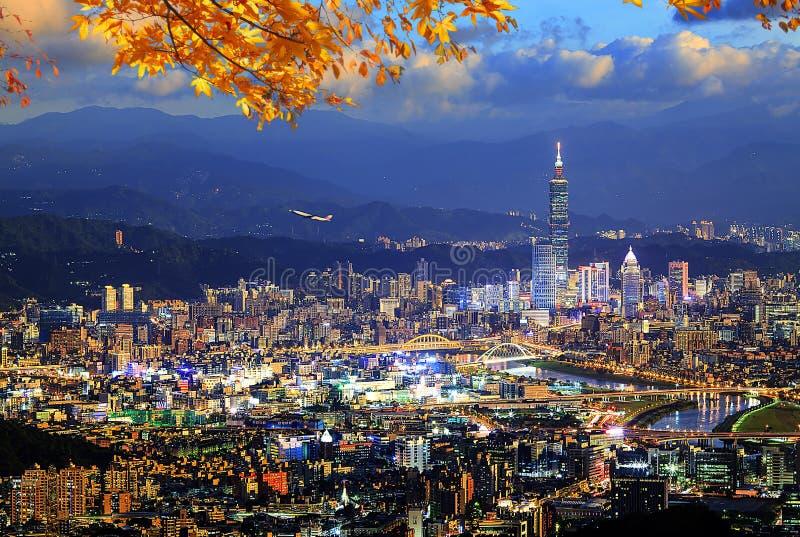 Schöne Ansicht von Taipeh-Stadt nette Zeit, Taiwan druning stockbilder