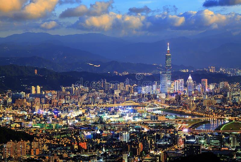 Schöne Ansicht von Taipeh-Stadt nette Zeit, Taiwan druning stockfotografie