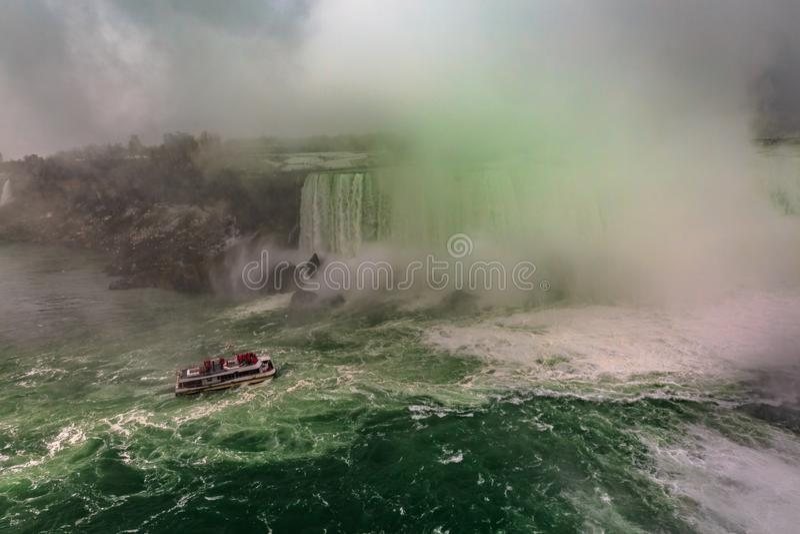 Schöne Ansicht zu Niagara Falls, Ontario, Kanada stockfotografie