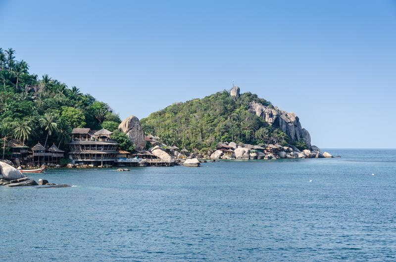 Schöne Ansichten der Insel in Thailand stockbild