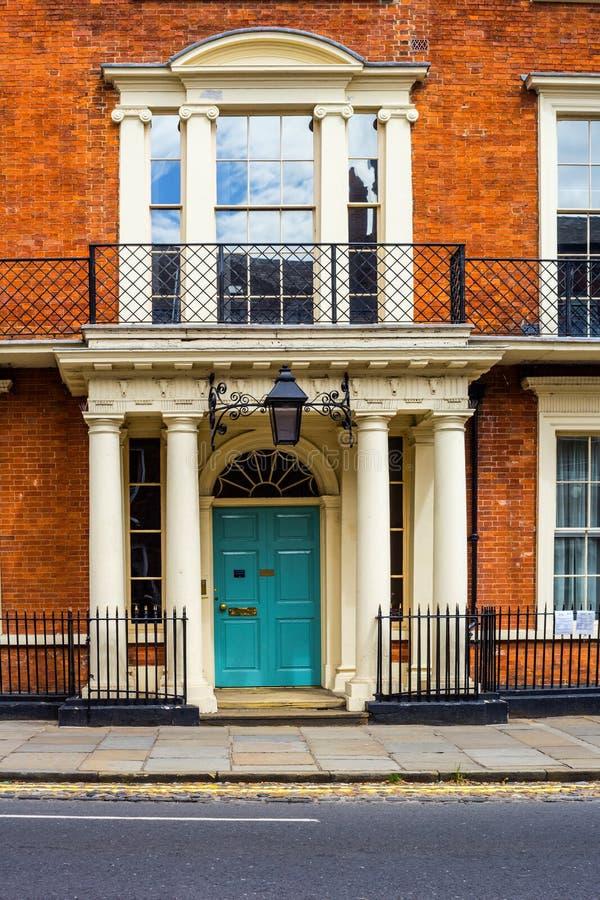 Schöne Architektur an der alten Stadt in York, England stockbild