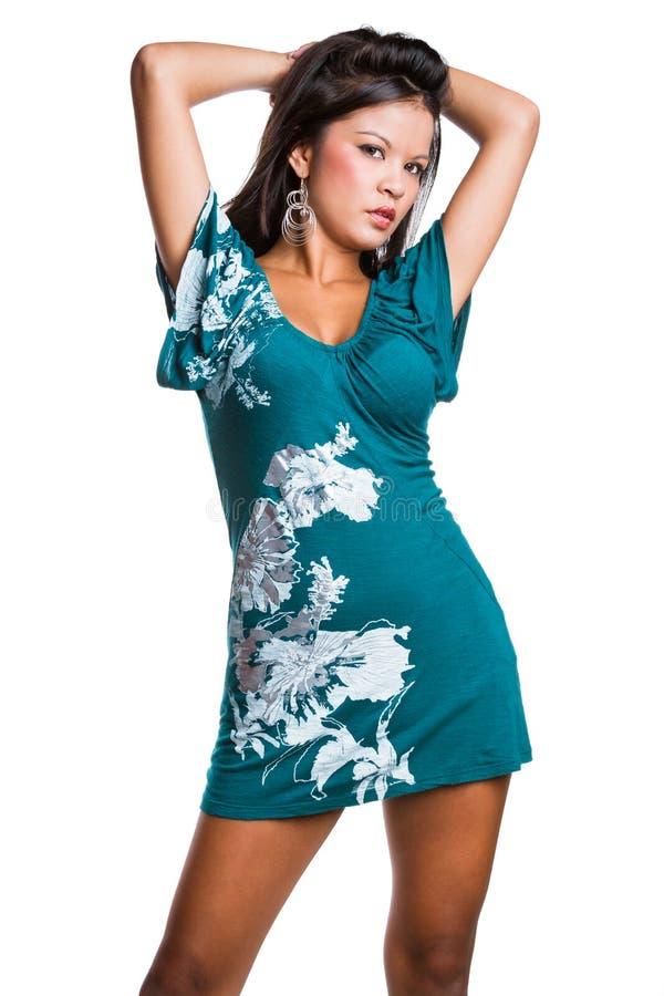 Schöne Art und Weisebaumusterfrau lizenzfreies stockfoto