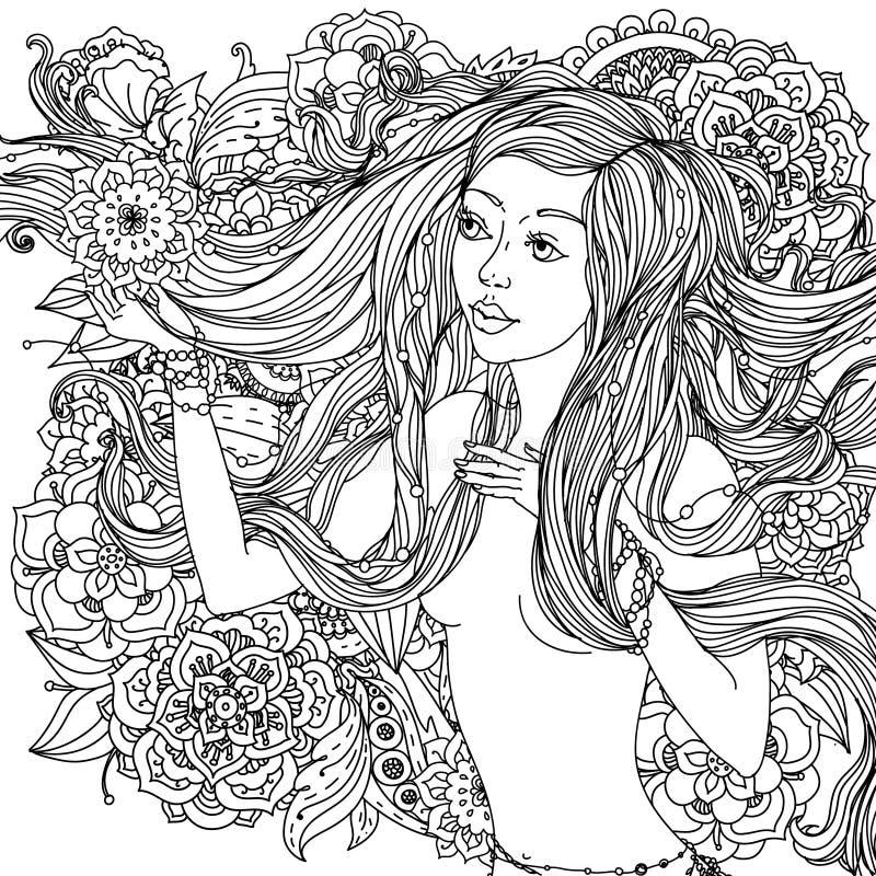 Schöne Art- und Weisefrauen stock abbildung