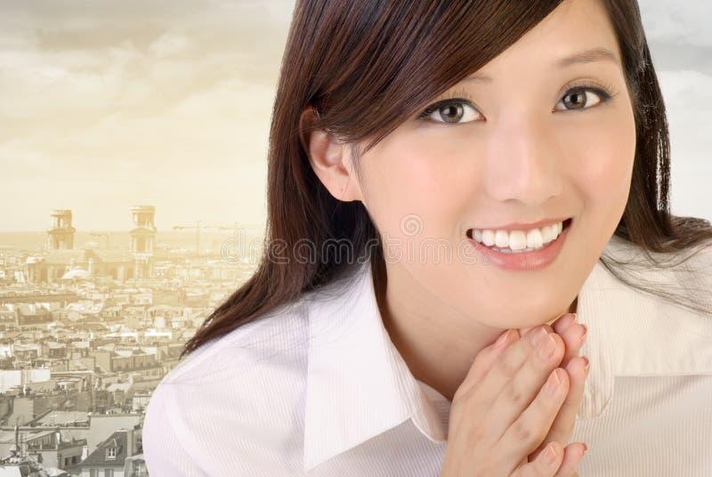 Schöne asiatische Geschäftsfrau stockbilder
