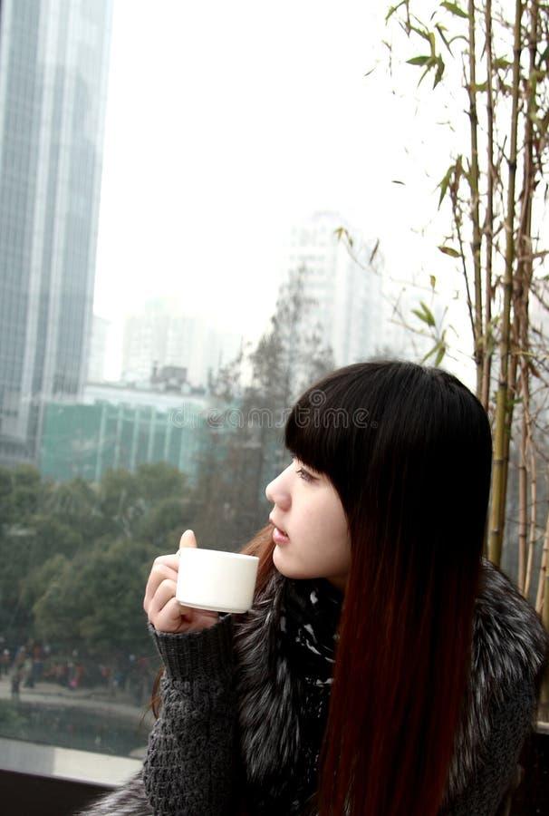 Schöne Asien-Frau stockfotos