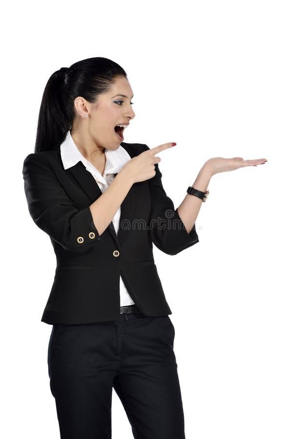 Schöne attraktive Geschäftsfrau stockfotos