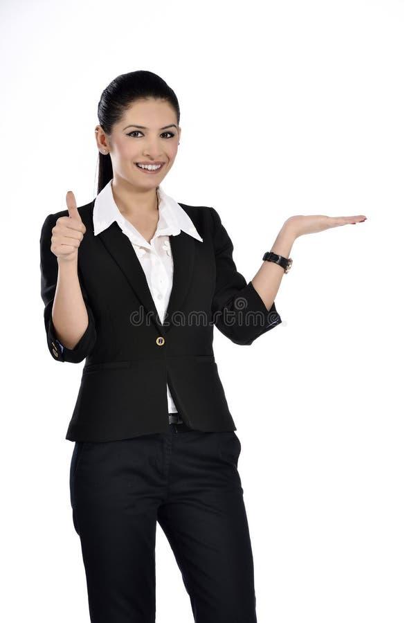 Schöne attraktive Geschäftsfrau stockbilder