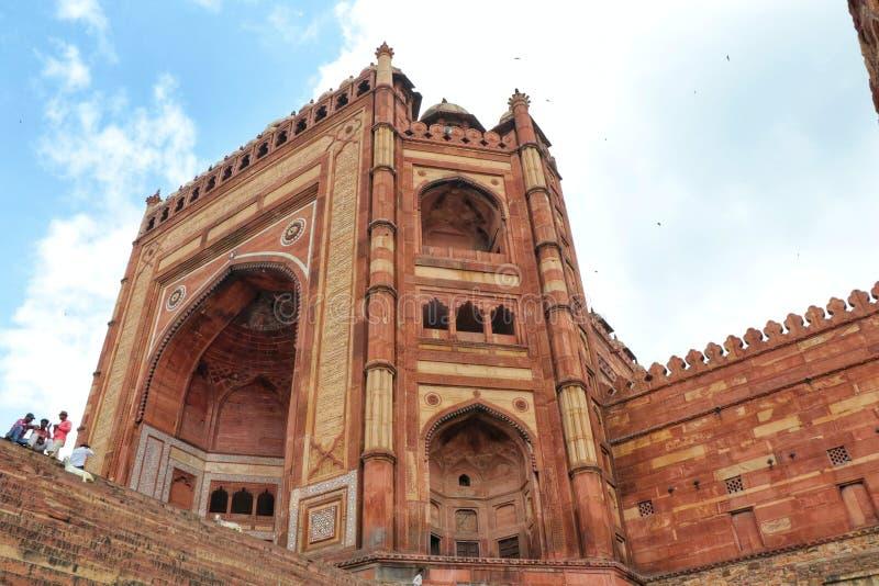 Schöne Außenansicht von Fethpur Sikri, Agra, Indien lizenzfreies stockfoto
