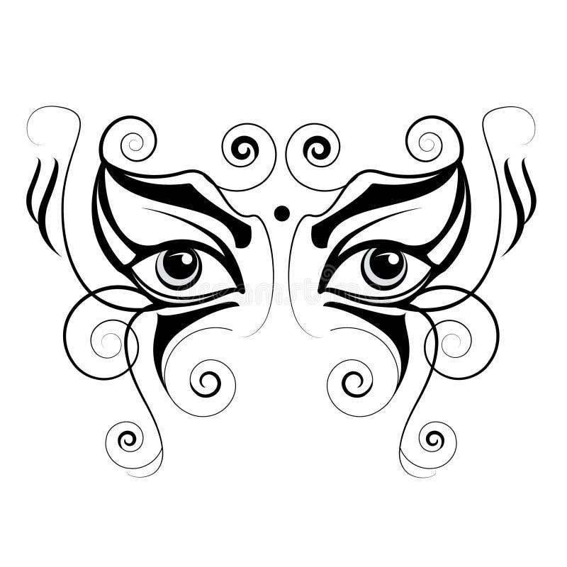 Schöne Augen stockfotografie