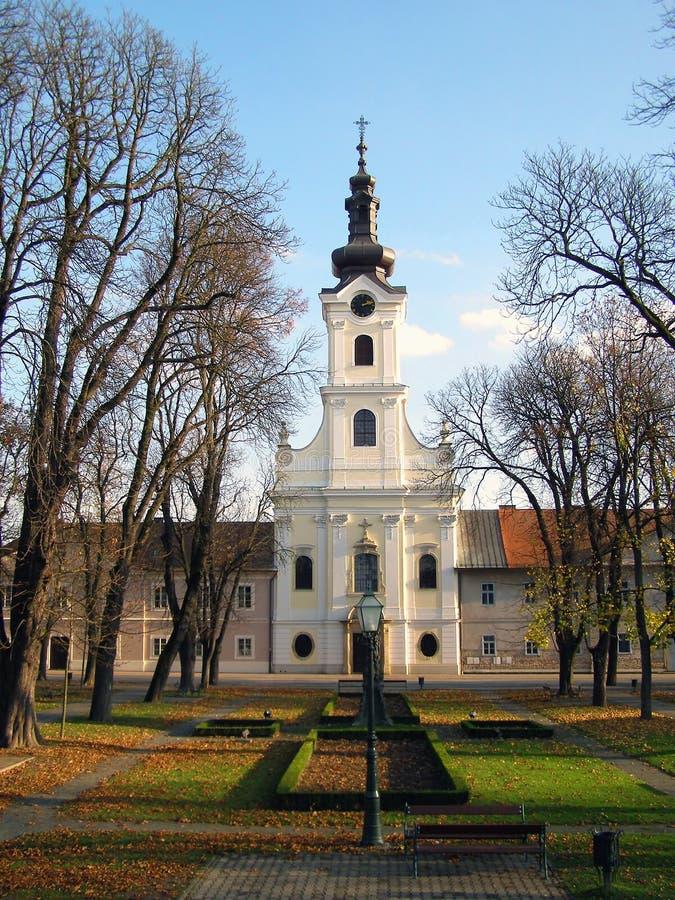 Schöne barocke Kirche stockbilder