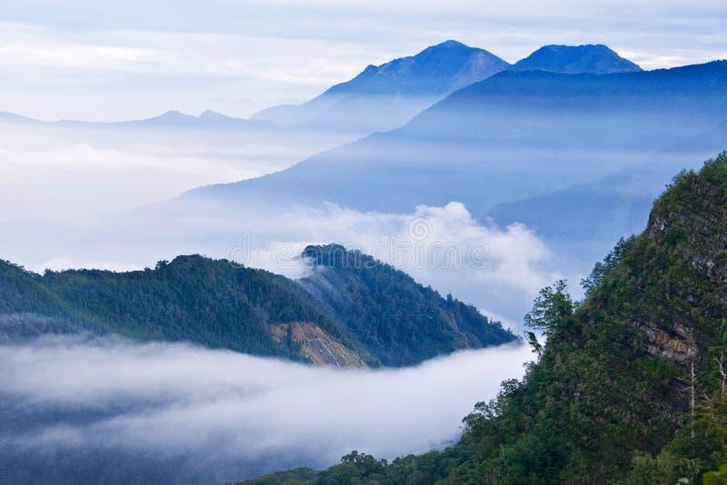Schöne Berge Taiwans stockbild