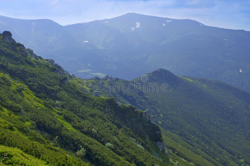 Schöne Berge, Ukrainer Karpaten Sommerwanderung stockbild