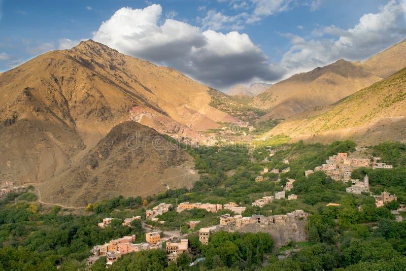 Schöne Berglandschaft nahe Imlil, Marokko stockfoto