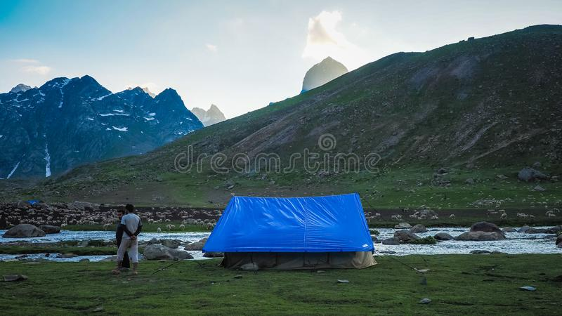 Schöne Berglandschaft von Sonamarg, Jammu und Kashmir Staat, stockbild