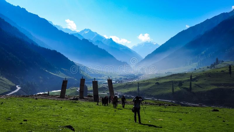 Schöne Berglandschaft von Sonamarg, Jammu und Kashmir Staat, stockfotografie