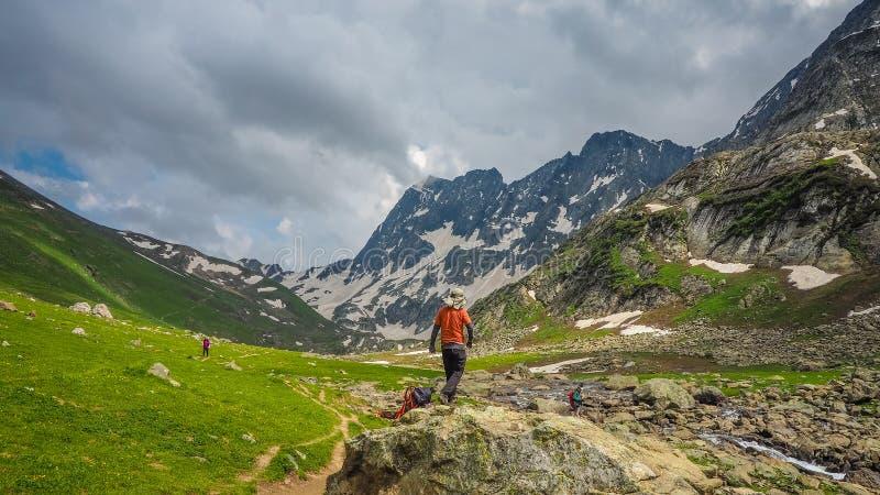 Schöne Berglandschaft von Sonamarg, Jammu und Kashmir Staat, lizenzfreies stockfoto