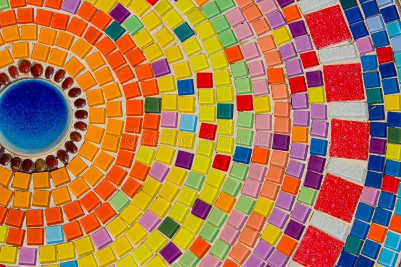 Schöne Beschaffenheit des bunten Mosaiks stockbild