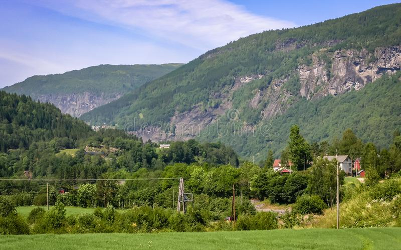Schöne Beschaffenheit von Norwegen lizenzfreie stockbilder