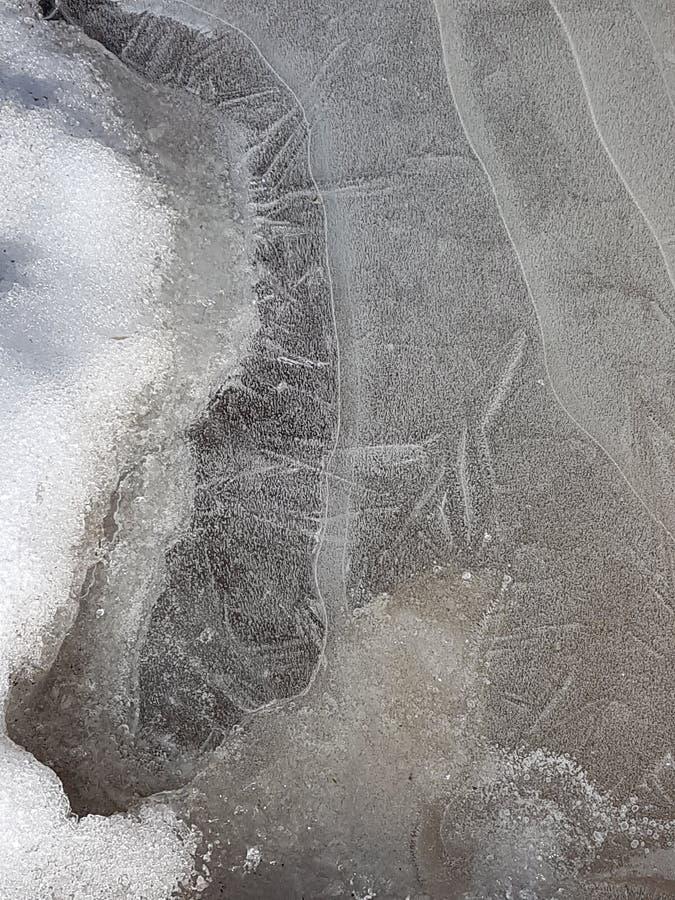 Schöne Bilder des Eises, des Wassers und des Landes in Cañadas Del Teide, Teneriffa 10 stockfoto
