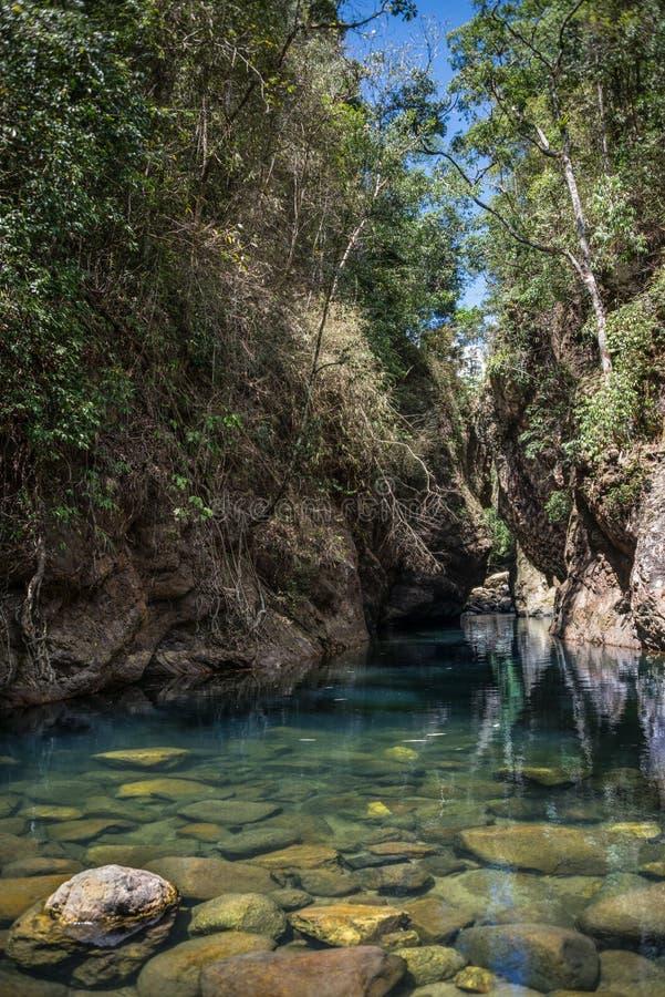 Schöne blaue Dschungel-Lagune, Khao Sok National Park. Thailand, stockfoto