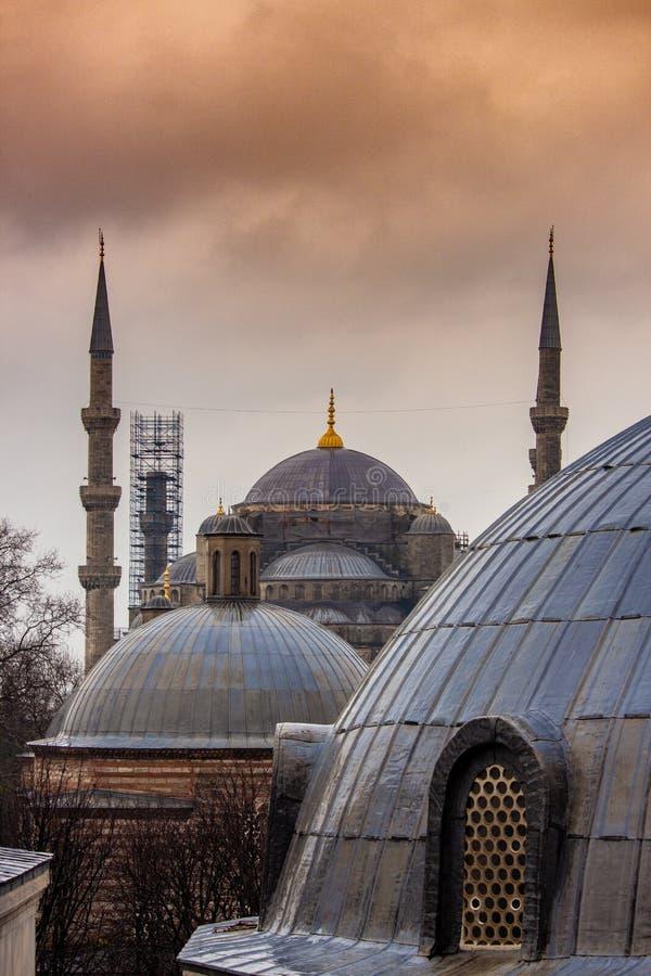 Schöne blaue Moschee von Istanbul stockbild