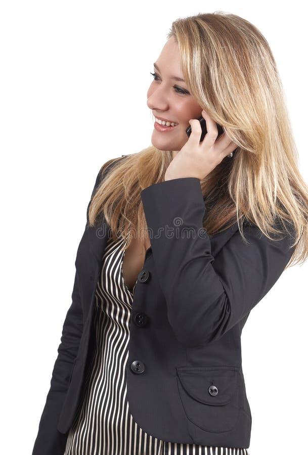 Schöne blonde Geschäftsfrau lizenzfreies stockbild
