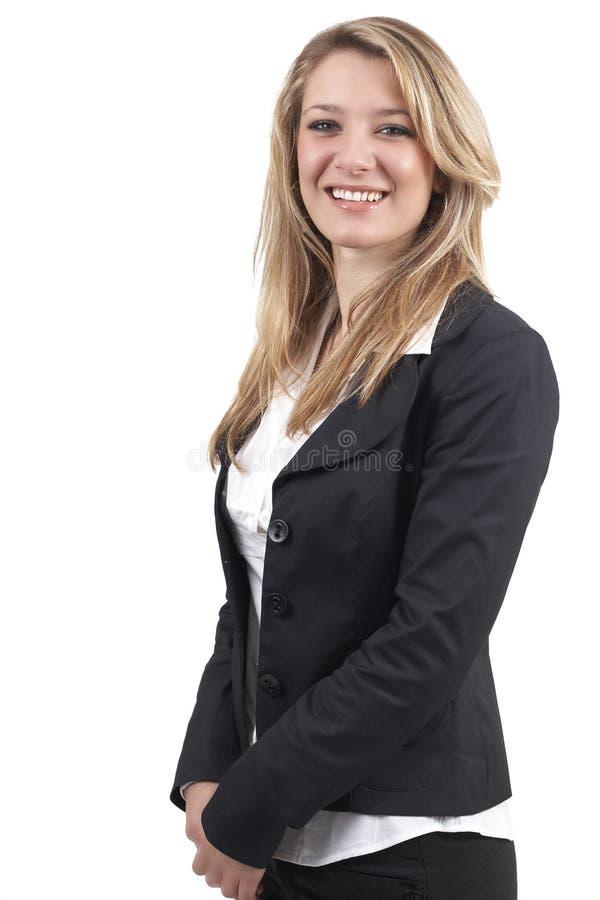 Schöne blonde Geschäftsfrau stockfoto