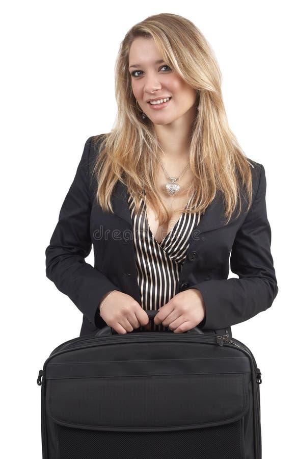 Schöne blonde Geschäftsfrau lizenzfreie stockbilder