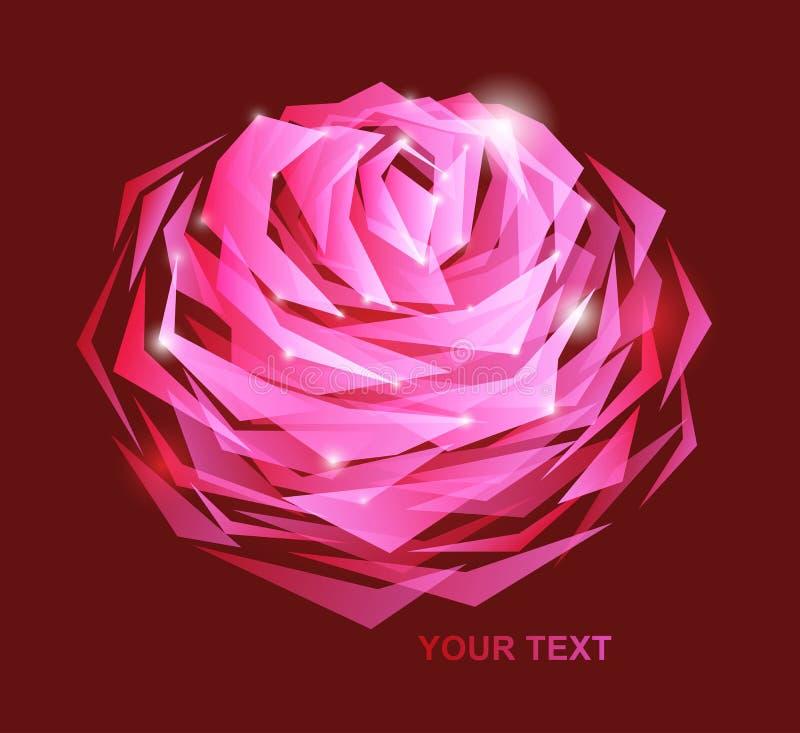 Schöne Blume - entziehen Sie Auslegung stock abbildung