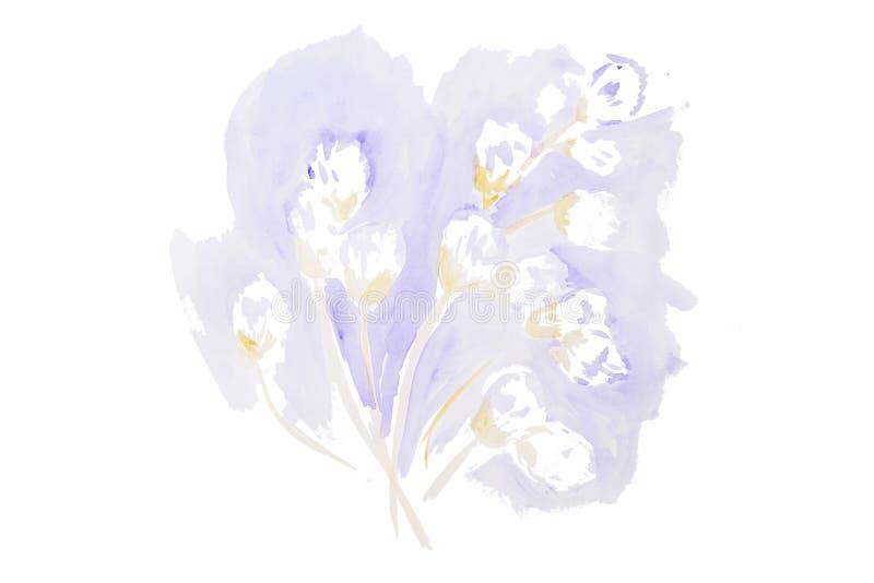 Schöne Blumen des Aquarells stock abbildung