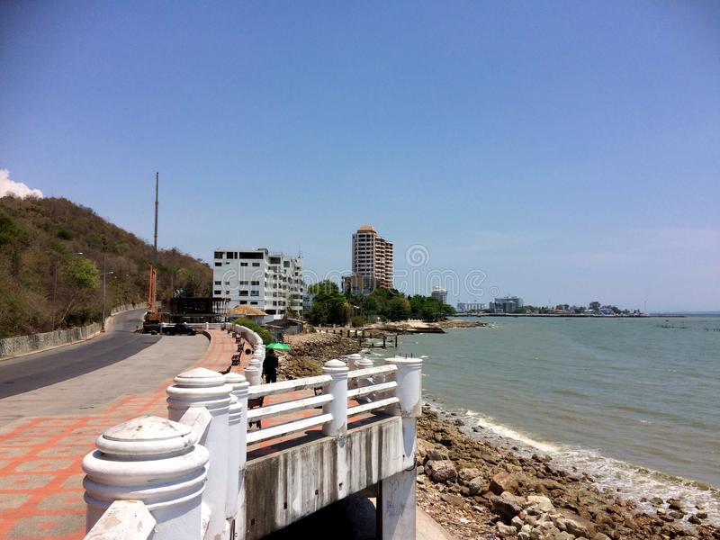 Schöne Brücke in Rayong, Thailand lizenzfreies stockbild
