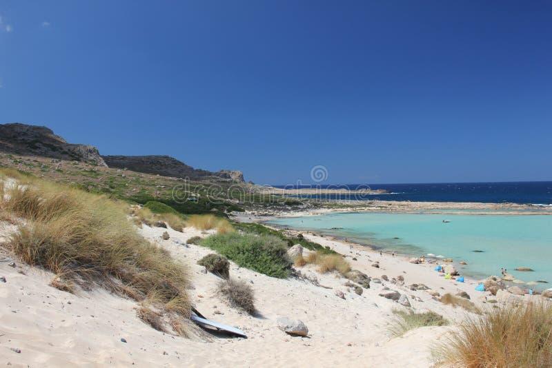 Schöne Bucht von Balos in Kreta stockbild