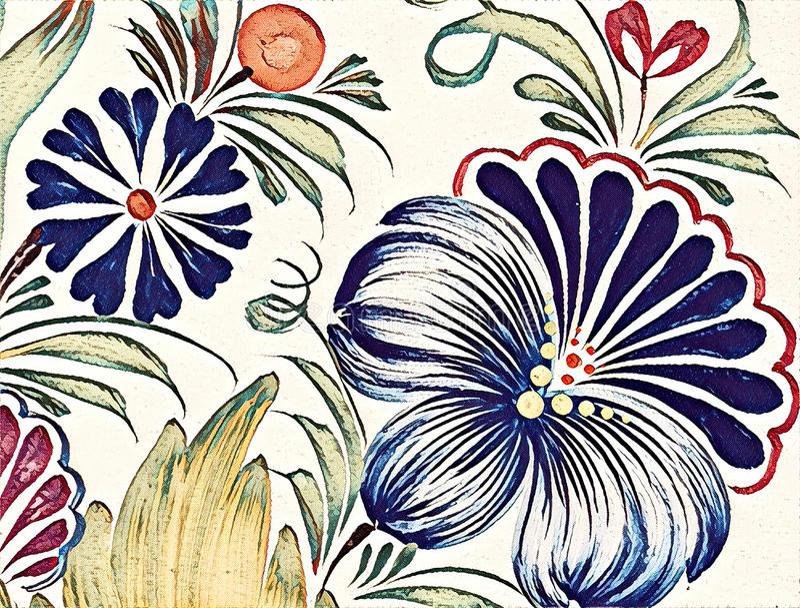 Schöne bunte Malereiblume mit Blättern Traditionelle ukrainische Malerei lizenzfreie abbildung