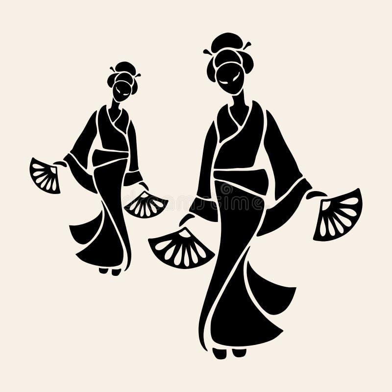 Schöne chinesische Frauen vektor abbildung