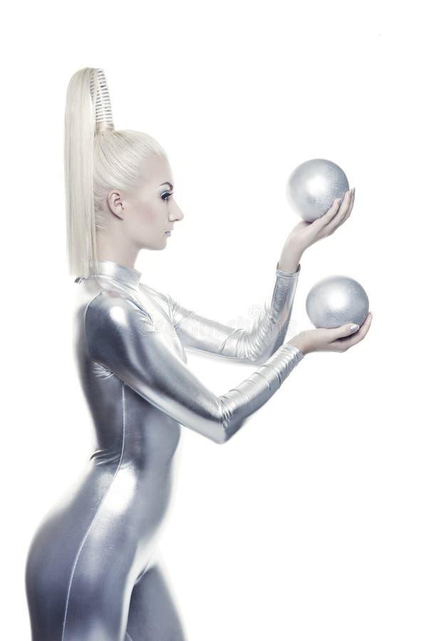 Schöne Cyberfrau lizenzfreies stockbild
