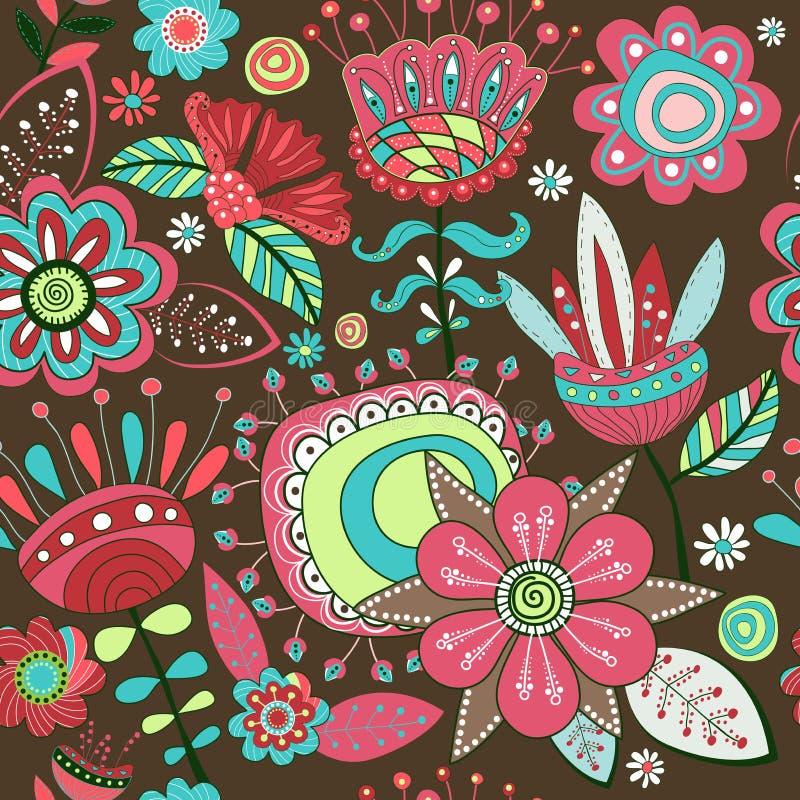 Schöne dargestellte Blumen und Blumenblätter Unterschiedlich von den Blumen und vom siz lizenzfreie stockfotos