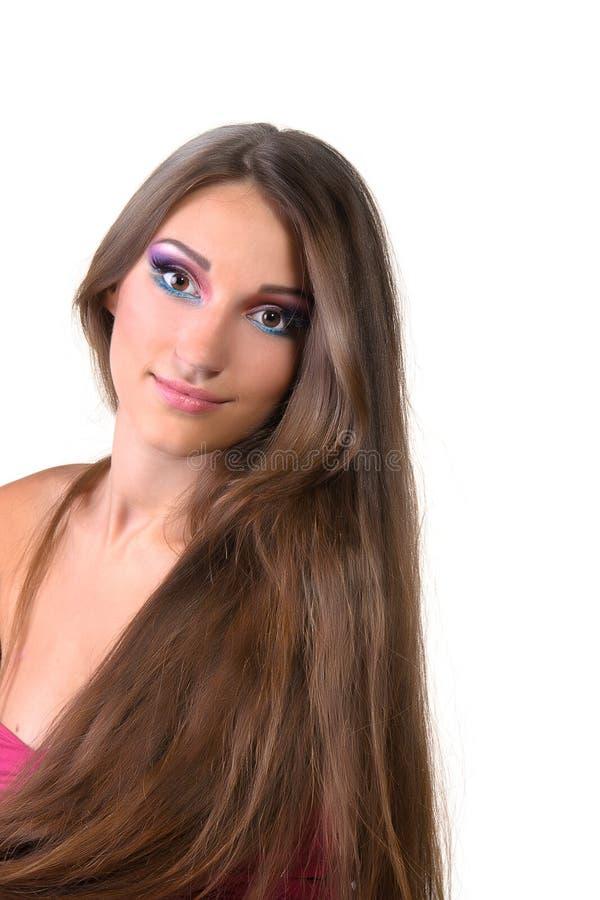 Schöne des Mädchens Rosaverfassung Berufs- stockfoto