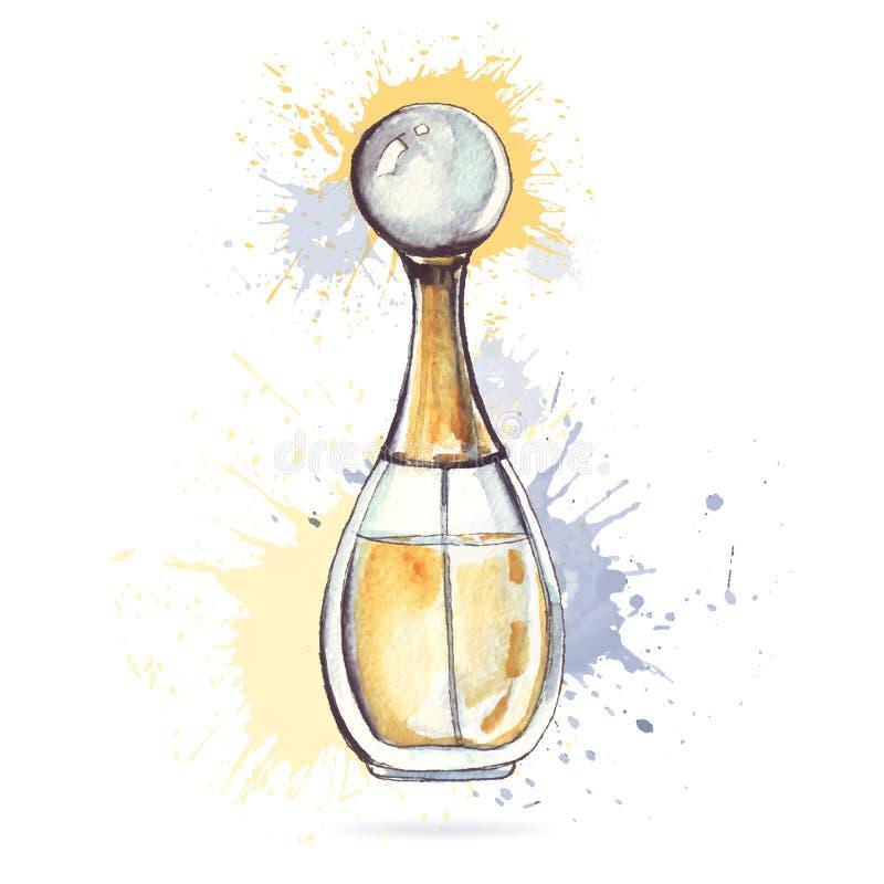 Schöne Duftstoffflasche lizenzfreie abbildung