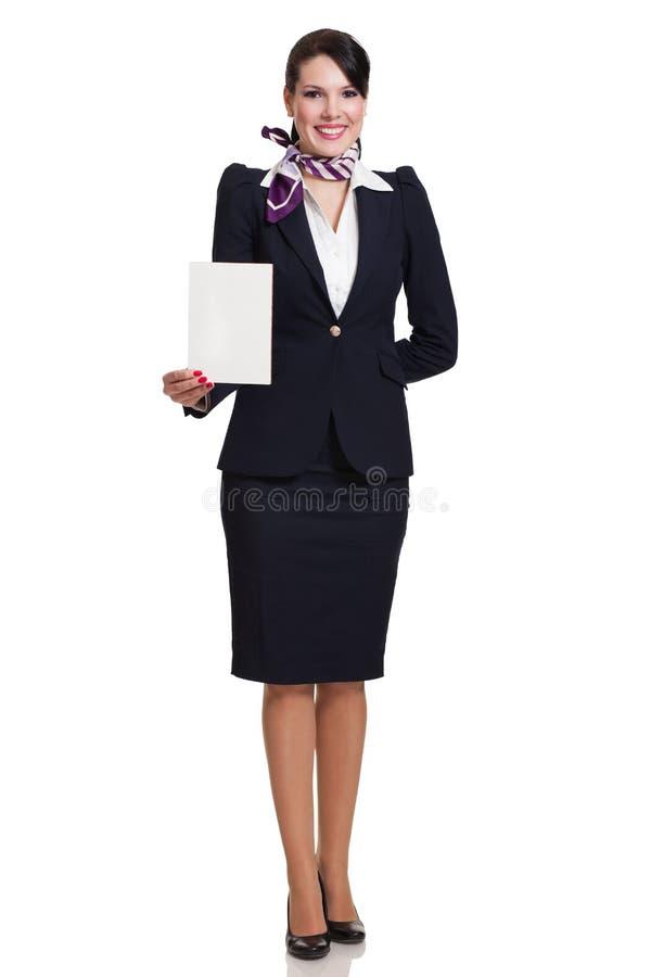 Fullbody einer jungen schönen Geschäftsfrau stockbilder