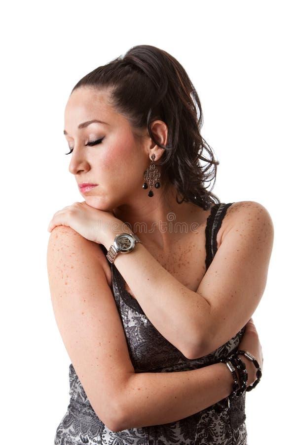 Schöne empfindliche Frau lizenzfreies stockfoto