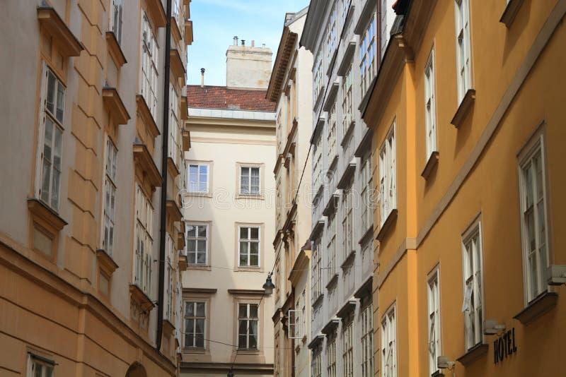 Schöne europäische Häuser stockfoto