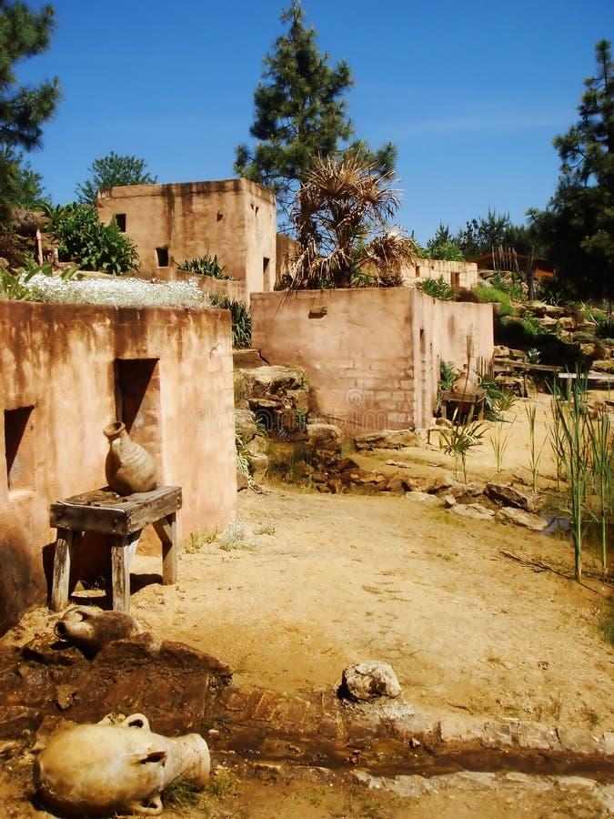 Schöne Fälschung Ägyptisch-wie Gebäude stockfotografie