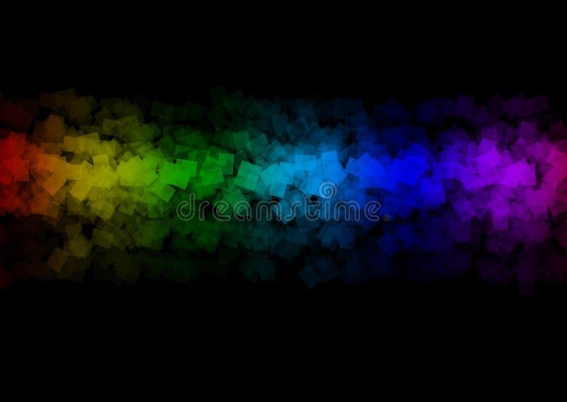 Schöne Fahne des mehrfarbigen Regenbogenzusammenfassungshintergrundkunst-Designs stock abbildung