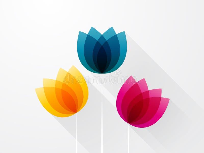 Download Schöne farbige Blumen vektor abbildung. Illustration von modern - 47101563