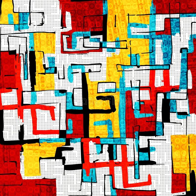 Schöne Farbzusammenfassungsmuster-Vektorillustration von Graffiti stock abbildung
