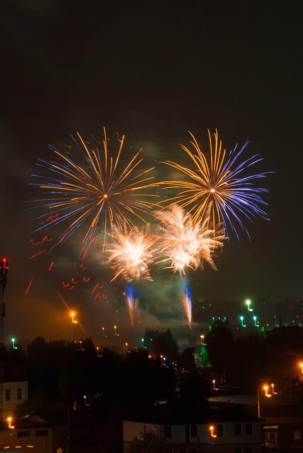 Schöne Feuerwerke stockbilder