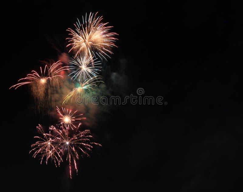 Schöne Feuerwerke stockfoto