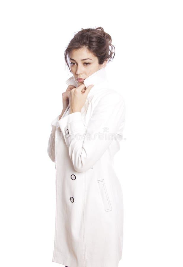 Download Schöne Frau stockbild. Bild von person, getrennt, fashion - 12200327